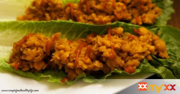 Asian Chickpea Lettuce Wraps