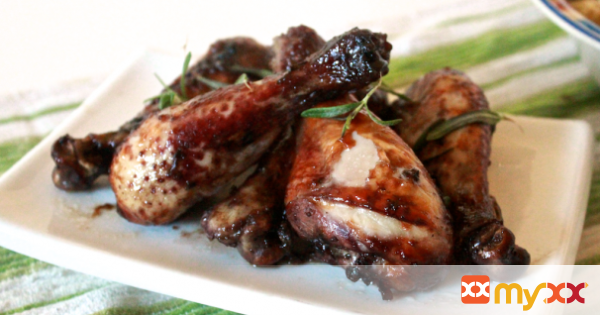 Blackberry Balsamic Drumsticks