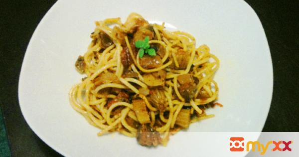 Caponata Style Celery Spaghetti Sauce