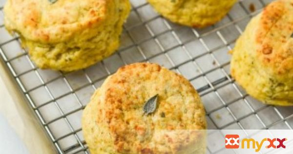 Acorn Squash Biscuits with Sage & Gruyere