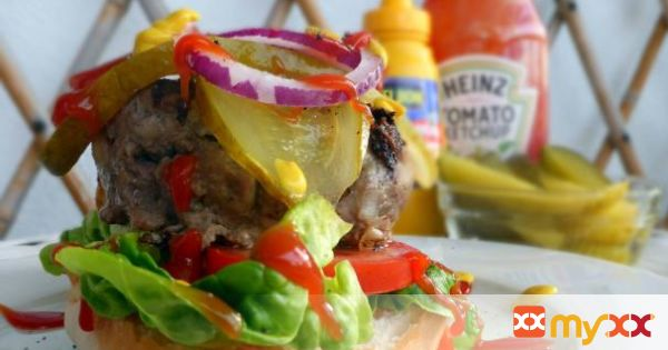 An American Beef Burger