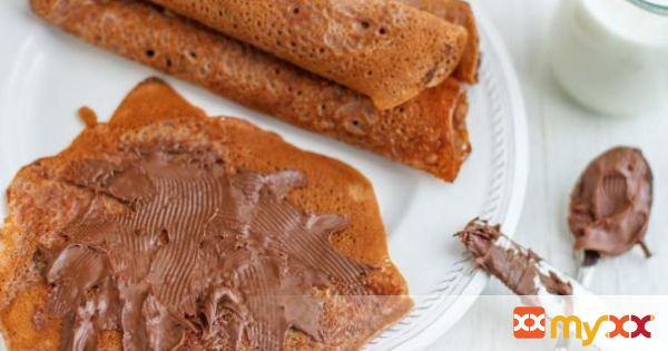 Apple & Cocoa Batter Crêpes without Eggs