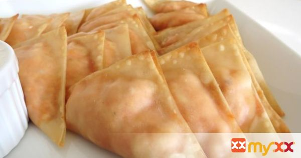 Buffalo Chicken Wings Wonton Wraps