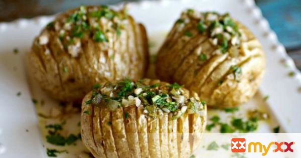 Chimichurri Hasselback Potatoes