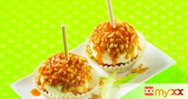 Caramel Apple Cupcake Sundaes