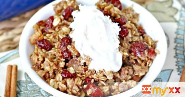 Cherry Pecan Baked Oatmeal
