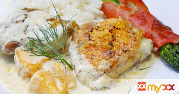 Mango Chicken with Dill in Coconut Cream Sauce