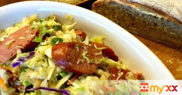 One Pot Kielbasa and Fried Cabbage