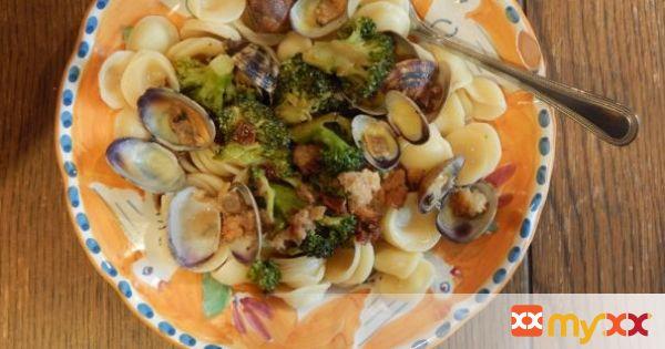Orecchiette with Colatura di Alici, Clams & Broccoli