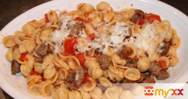 Orecchiette with Sausage and Tomatoes