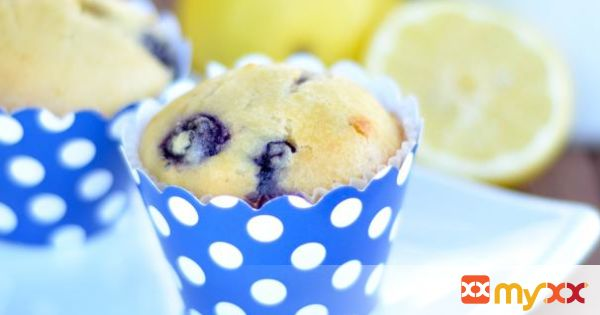 Paleo Blueberry Lemon Muffins