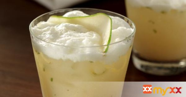 Pear Cardamom Flip Cocktail