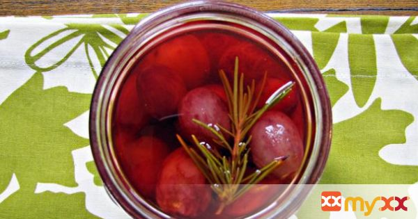 Pickled Grapes With Chile and Rosemary
