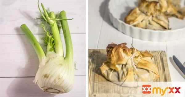 Prawn and Fennel Filo Pastry