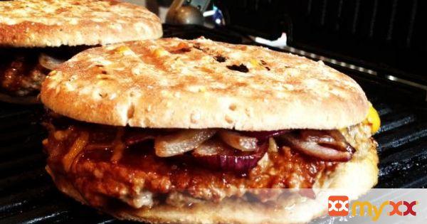 Pressed BBQ Turkey Burger