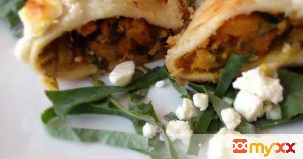 Pumpkin Kale Enchiladas - Vegetarian