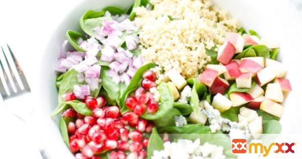 Quinoa, Pomegranate, & Spinach Salad