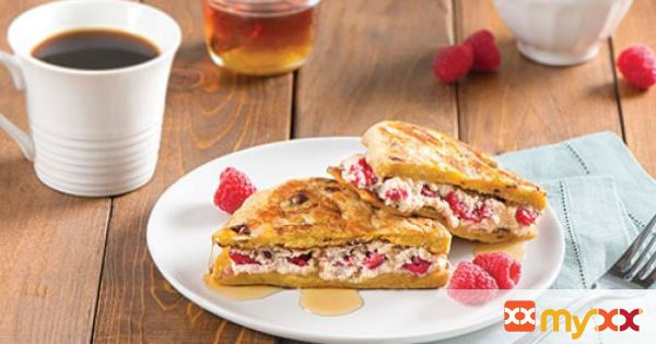 Raspberry and Ricotta Stuffed French Toast Pitas