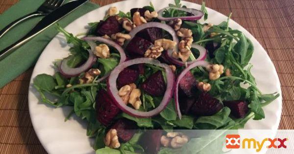 Roasted Beets and Walnut Salad
