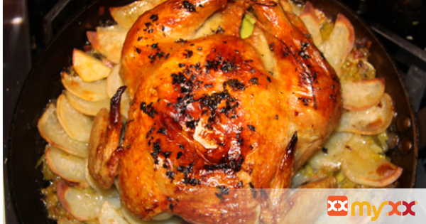 Roasted Chicken with Potatoes and Leeks