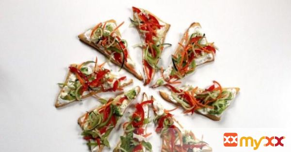 Spiralized Veggie Pizza