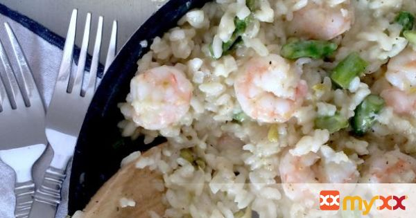 Spring Risotto with Shrimp, Asparagus and Artichoke Hearts