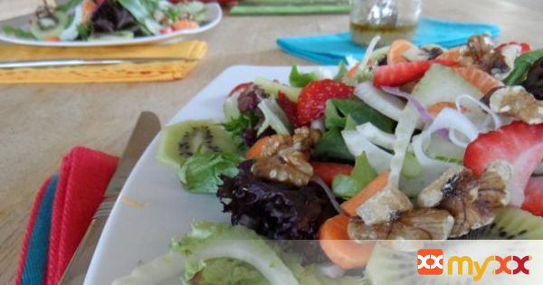 Spring Salad with Walnut Vinaigrette