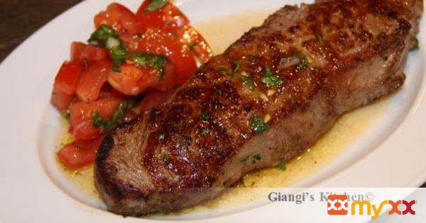 Steak with Tomato Salad