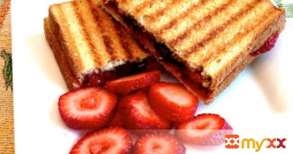 Strawberry and Chocolate Chip Panini