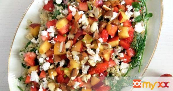 Strawberry, Nectarine and Quinoa Salad