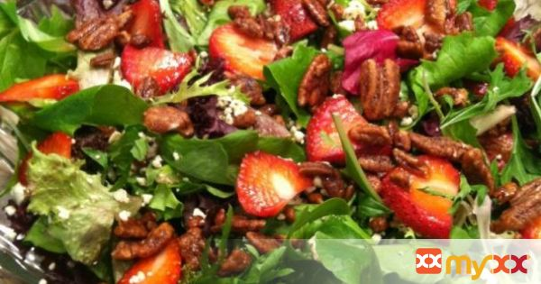 The Ranch Kitchen's Strawberry, Feta and Sugared Pecan Salad