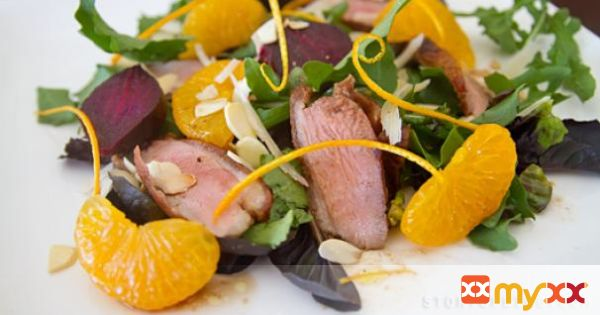 Warm Duck Salad With Roasted Beetroot
