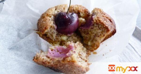 White Chocolate & Cherry Almond Muffins