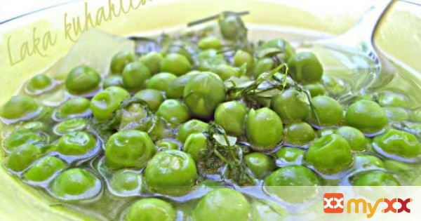 Young peas and kohlrabi with dill