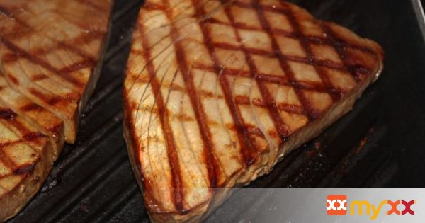 Tuna Steak Marinated and Grilled