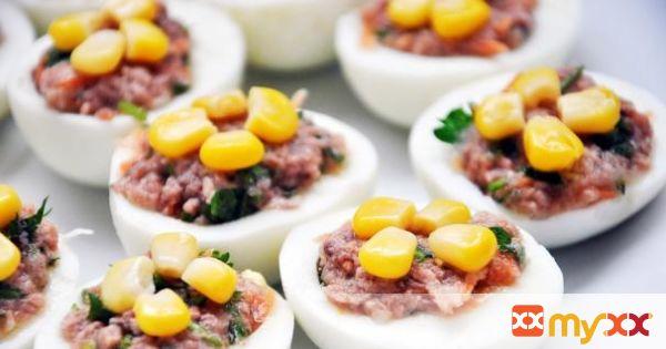 Tuna Stuffed Hard-Boiled Eggs