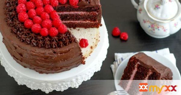 Ultimate Red Wine Chocolate Raspberry Cake