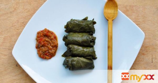 Vegetarian Mushroom and Brown Rice Dolmas
