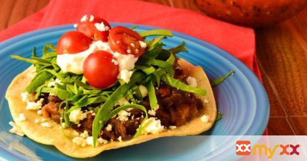 Vegetarian Tostadas With Spicy Black Beans (+gluten free)