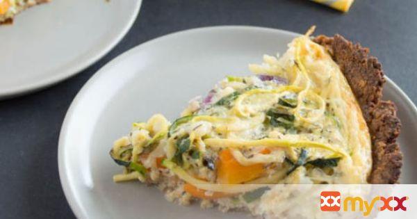 Zucchini Quiche & Almond Flax Crust