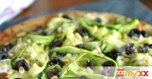 Zucchini Ribbon and Ricotta Pizza
