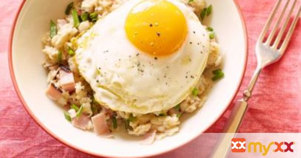 Ham, Egg and Cheese Oatmeal