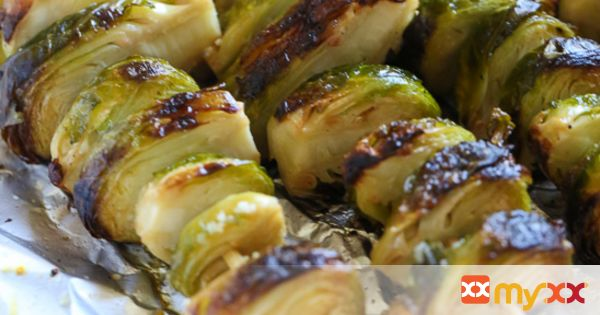 Grilled Brussels Sprouts with Balsamic Glaze