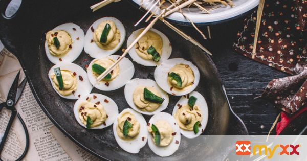 Honeyed Jalapeno Deviled Eggs