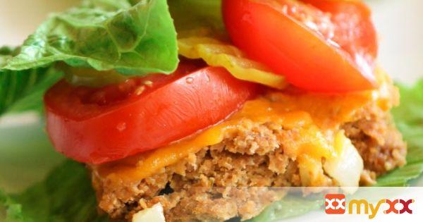 Baked bun-less burgers