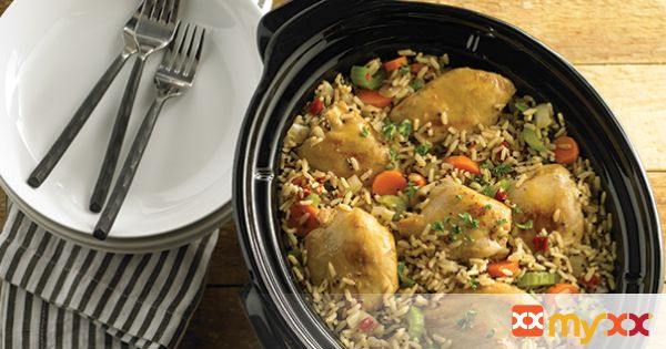 Slow Cooker Chicken with Savory Grains