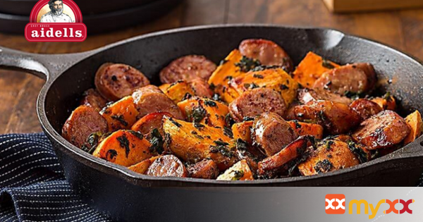 Chicken & Apple Sausage with Sweet Potato