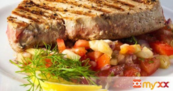Grilled Tuna Steaks Baja