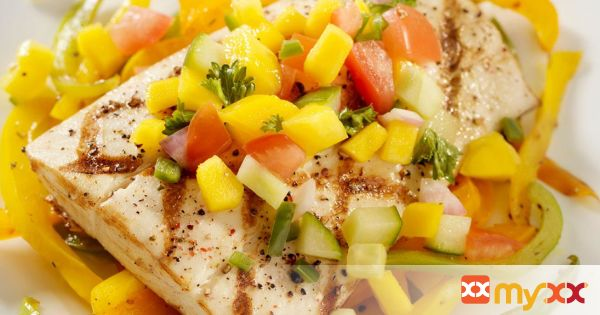 Alaska Halibut with Tangy Fruit Salsa
