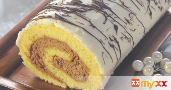 White Chocolate Birch Log Cake